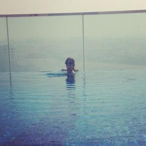 Roof-top pool