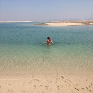 Swimming to Syria.